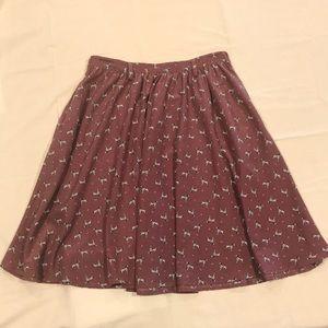 Xhilaration Purple Skirt in Dalmatian Dog Print
